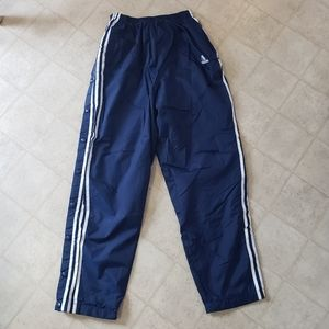 Size M Adidas pants snap up. Missing top button